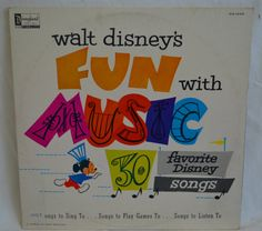 Vintage Disneyland Record Fun with Music 30 by FloridaFinders, $10.00