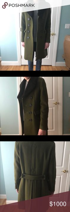 Burberry Trench Coat Detachable Fur Collar Beautiful Burberry Prorsum trench coat with detachable fur collar Burberry Jackets & Coats Trench Coats