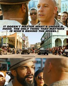 It matters who is behind the wheel - Fast and Furious - Fast 8 - Fate of the Furious Fast And Furious Memes, Movie Fast And Furious, Fate Of The Furious, Furious Movie, Movie Memes, Movie Quotes, Movie Tv, Tv Quotes, Michelle Rodriguez