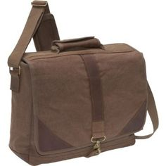 Amazon.com: Rothco Brown Vintage Leather and Canvas Urban Pioneer Laptop Bag: Computers & Accessories