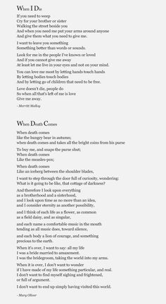 And therefore I look upon everything  as a brotherhood and a sisterhood,  and I look upon time as no more than an idea,  and I consider eternity as another possibility,Mary Oliver -When Death Comes (tombstone?)