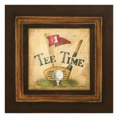 Gregory Gorham Solid-Faced Canvas Print Wall Art Print entitled Golf Tee Time, None Best Golf Clubs, Best Golf Courses, Framed Art Prints, Canvas Prints, Canvas Art, Big Canvas, Golf Room, Golf Art, Golf Theme