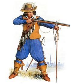Western European musketeer, first half of the XVII century