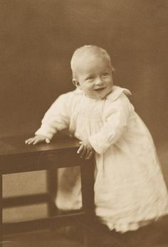 Prince Philip as a baby.