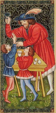 I - Le magicien - Golden Tarot of Renaissance par Giordano Berti & Jo Dworkin