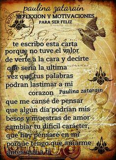 Reflexión amor y motivaciones / Paulina zatarain