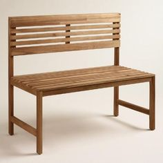One of my favorite discoveries at WorldMarket.com: Wood Megano Backed Bench