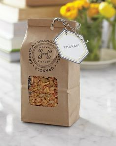 Healthy food granola bag for bridal shower party. Fruit Packaging, Cookie Packaging, Food Packaging Design, Paper Packaging, Packaging Design Inspiration, Gift Packaging, Baking Packaging, Bottle Packaging, Packaging Ideas