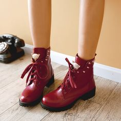 lace-up ankle boots - aliexpress