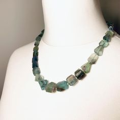 #beautiful Fluorite #necklace #handcut & #unique #designer #necklaces #beadedjewelry #stylediary #style #green #colourful Gemstone Necklace, Beaded Necklace, Unique, Designer, Beaded Jewelry, Gemstones, Beautiful, Green, Color