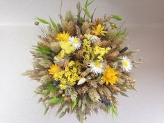Wheat Floral Arrangement Wheat Bouquet Dried Floral by JuraDeco