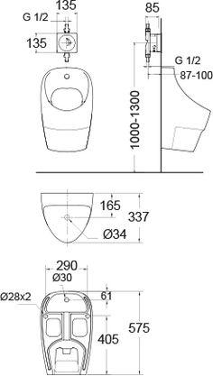 Lixil | Neo Modern Wall Urinal