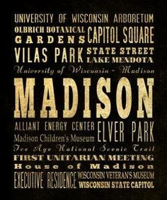 madison, wisconsin word art