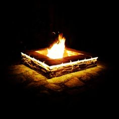 Nothing beats the relaxation of a outdoor Fire Pit. This one consisted of stacked stone, under lighting, and was 4'X4'.