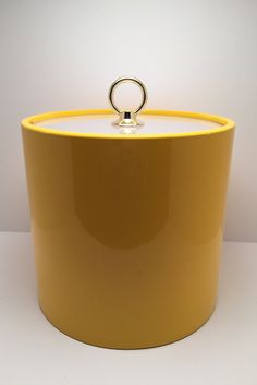 Vintage Ice Bucket by Sigma The Tastesetter in retro yellow by Boutiquity on Etsy https://www.etsy.com/listing/233298506/vintage-ice-bucket-by-sigma-the