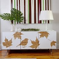 how easy would this be to recreate on an IKEA piece with some contact paper!