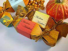 Fall Wedding Favor DIY Kit Yellow Teal Red