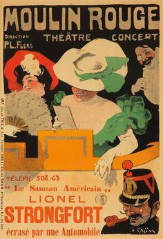 Moulin Rouge Theatre Concert Lionel Strongfort - Mad Men Art: The Vintage Advertisement Art Collection Vintage Advertisements, Vintage Ads, Vintage Posters, Paris Atelier, Folies Bergeres, Art Nouveau, Henri De Toulouse Lautrec, Litho Print, Posters