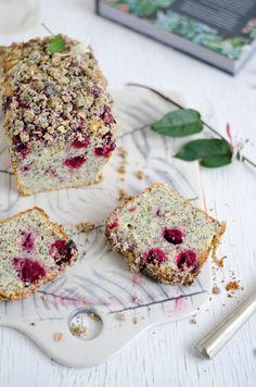 Coco e Baunilha: Streusel cake de cereja com sementes de papoila // Cherry and poppy seed streusel cake