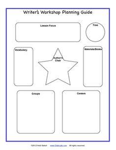 Freebie! Writer's Workshop Planning Guide