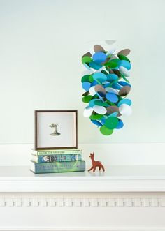paper circles made into a mobile - DIY instead of $76!