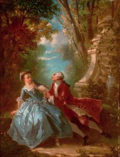 Huet, Jean-Baptiste (b,1745)- Persuasive Suitor (I think something must have been lost in the translation..)