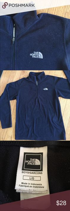 Good looking boy's North Face pullover Smart North Face pullover, 1/4 zip, in good condition, youth size large. North Face Jackets & Coats