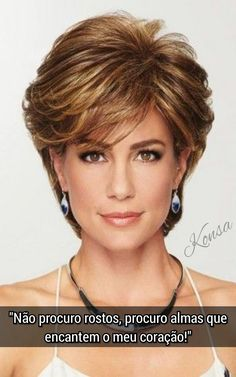 Shop our online store for short hair wigs for women. These natural hair and synthetic wigs fit mini petite, petite, average and large head sizes. Wig styles include straight, curly and wavy hair in your favorite pixie, bob or cropped hairstyle. Short Hair With Layers, Short Hair Cuts For Women, Short Hair Styles, Short Gray Hair, Layered Bob With Bangs, Shaggy Short Hair, Haircut For Older Women, Haircut For Thick Hair, Long Curly