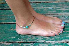 Ankle Bracelet  anklet  blessed  inspirational message silver clear glass stones going across
