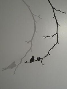"""Anne-K Imbert - """"Un jour en hiver"""" #annekimbert #samagra #art #bronzesculpture #sculpture #birds #suspendedsculpture #artcontemporain #contemporaryart"""