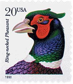 #3051 – 1999 20c Ringnecked Pheasant s/a for sale at Mystic Stamp Company