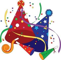 free new year clip art image clip art illustratio of party hats and party favors