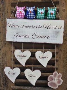 Türschild Pusteblume Schmetterlinge Familienschild   Diy stuff ...