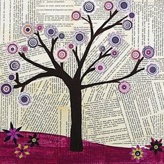 DIY Mixed Media Tree Art Projects (39)