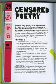 how to write Blackout/Censored poetry  #poetry #writing