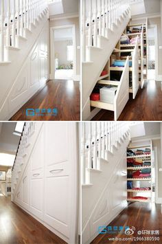 A good idea for space under stairs