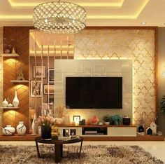 Living Room Wall Units, Living Room Tv Unit Designs, Living Room Sofa Design, Bedroom Closet Design, Living Room Goals, Dining Room Design, Living Area, Home Interior, Modern Interior Design