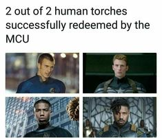 The original human torch was better, I loved his characters cocky-ness