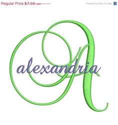 77e6e0870a7 Fancy Satin Script Machine Embroidery Monogram Fonts Designs 4x4 Hoop  Instant Download