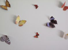 Butterflies cut outs by Hidden In France, via Flickr