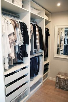 organized closet that will fit everything....one day.