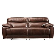 This Deacon leather reclining sofa has everything you could want in a living room piece—style, comfort and durability. It'll surely catch your eye with its luxurious yet resilient leather everywhere the body touches and coordinating topstitching. But once you cozy up on this sofa and experience its pillow arms and pub-style back for yourself, there's no doubt that what you'll truly desire is its indulgence.