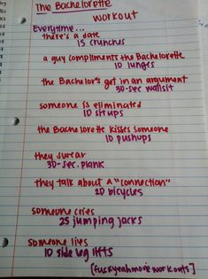 The Bachelorette workout!! Submission!  Want to see more workouts like this one? Follow us here.