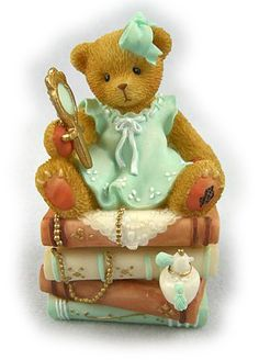 Trinket Boxes - Victorian Teddie With Mirror : Woolvey: Retired & limited edition figurines Ty Bears, Boyds Bears, Clay Bear, Tiny Teddies, Cute Clown, My Teddy Bear, Victorian Dolls, Love Bear, Tatty Teddy