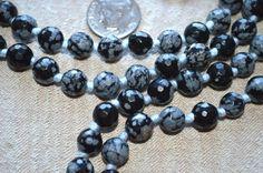 Root Chakra Snowflake Obsidian Mala bead Grounding, Stability, Physica – AwakenYourKundalini