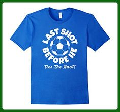Mens Mens Soccer Last Shot Before He Ties The Knot Groom T Shirt XL Royal Blue - Wedding shirts (*Amazon Partner-Link)