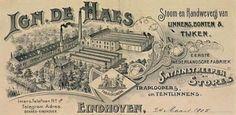 Katoenmaatschappij De Haes was gevestigd in Eindhoven, maar ook in Mierlo. Eindhoven, Vintage World Maps, Van, Vans