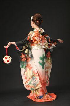 白い比翼 kimono
