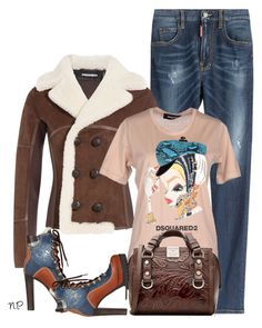 Dsquared2 Jeans and TShirt by nuria-pellisa-salvado on Polyvore featuring moda, Dsquared2, StreetStyle, jeans, polyvorecommunity and polyvoreeditorial