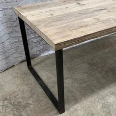 Reclaimed Industrial Chic Dining Table Bar Cafe Restaurant | Etsy Industrial Shelving, Rustic Shelves, Industrial Chic, Grey Ikea Kitchen, Wood And Metal, Solid Wood, Restaurant Furniture, Small Dining, Cafe Restaurant